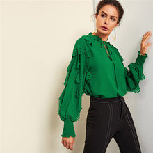 Green Applique Blouse - Dash Couture