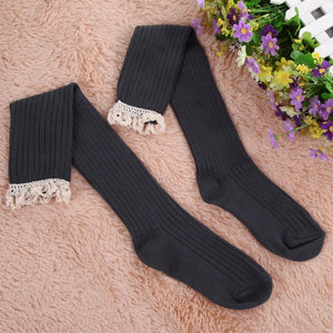 Lace Trim Boot Socks - Dash Couture