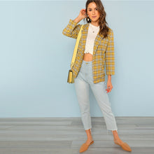 Plaid Blazer - Dash Couture