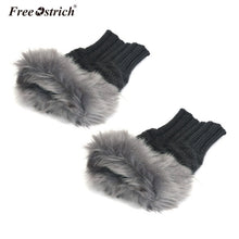 Fur-Tipped Mittens - Dash Couture
