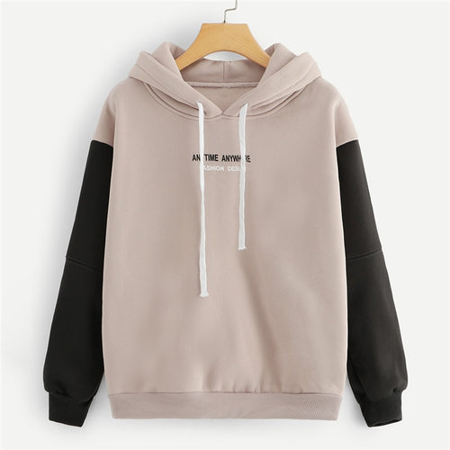 Contrast Colorblock Hoodie - Dash Couture