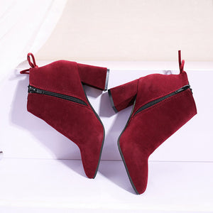 Square Heel Laced Boots - Dash Couture
