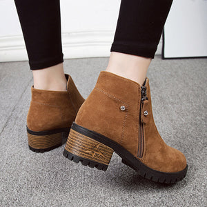 Suede Timber Booties - Dash Couture