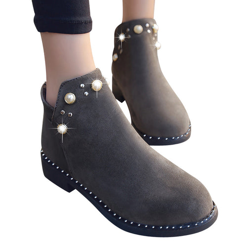Pearl Beading Booties - Dash Couture