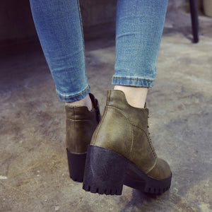 Industrial Heel Boots - Dash Couture