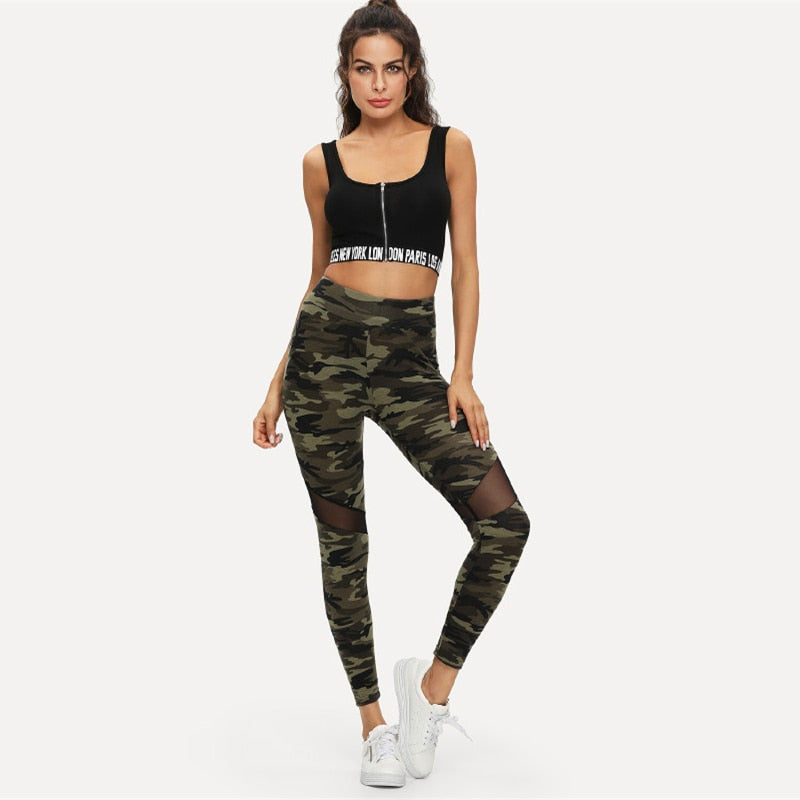 Camo Leggings - Dash Couture