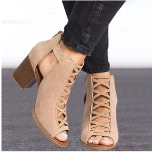 Criss-Cross Booties - Dash Couture