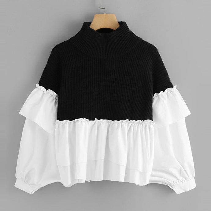 Ruffle Dolman Sweater - Dash Couture
