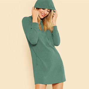 Knit Hoodie Dress - Dash Couture
