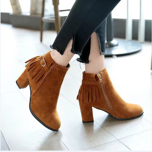 Tassled Ankle Boots - Dash Couture
