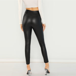 Zipped Patent Leggings - Dash Couture