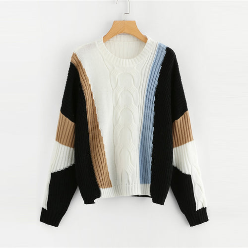 Color Block Highstreet Sweater - Dash Couture