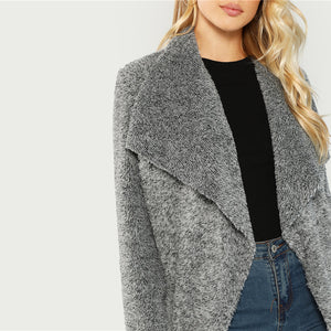 Waterfall Collar Cardigan - Dash Couture