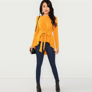 Mustard Asymmetrical Top - Dash Couture