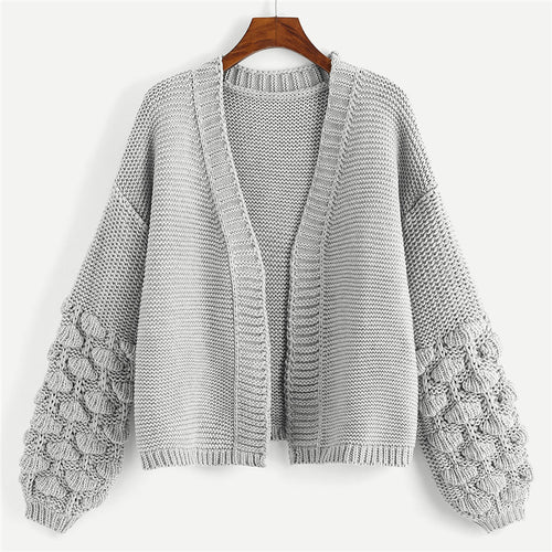 Preppy Bishop Sleeve Cardigan - Dash Couture