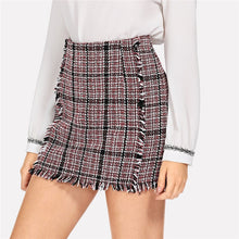 Plaid Tweed Miniskirt - Dash Couture