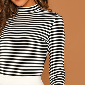 Ribbed Knit Mock Neck - Dash Couture