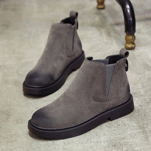 Suede Ankle Boots - Dash Couture