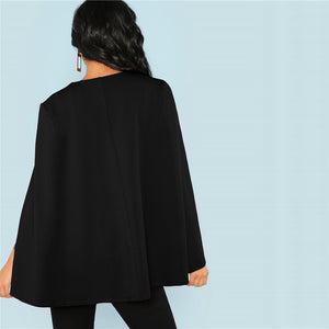 Black Split Sleeve Blouse - Dash Couture