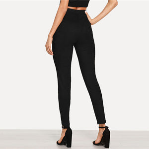 Suede Skinny Pants - Dash Couture