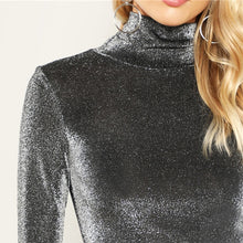 Glitter Mock Neck Top - Dash Couture