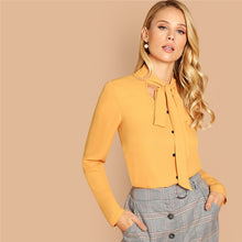 Tied Mustard Blouse - Dash Couture