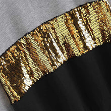 Sequin Tri-level Sweatshirt - Dash Couture