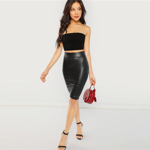 Patent Skinny Skirt - Dash Couture