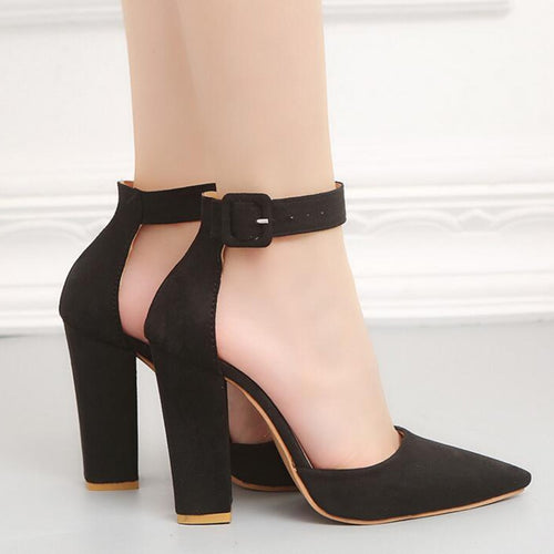 Retro Thick Heel Pumps - Dash Couture