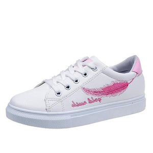 Feather PU Sneakers - Dash Couture