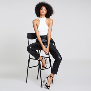Premium Patent Belted Ankle Pants - Dash Couture