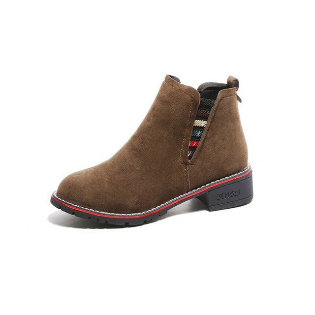 Suede Strapped Booties - Dash Couture
