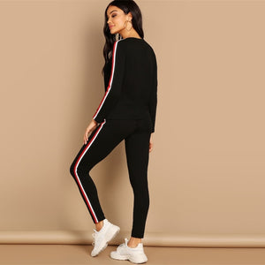 Striped Sweatsuit - Dash Couture