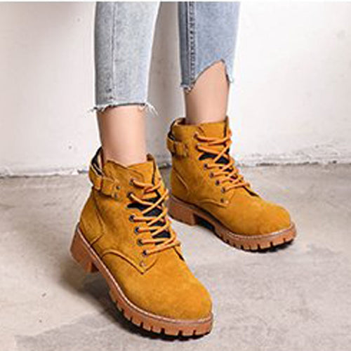 Ankle Strap Timber Boots - Dash Couture