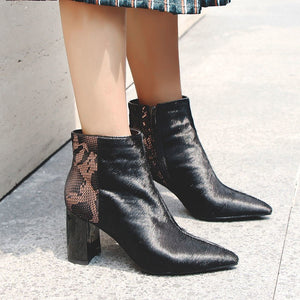 Genuine Horsehair and Leather Boots - Dash Couture