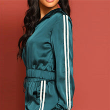 Satin Cropped Tracksuit - Dash Couture