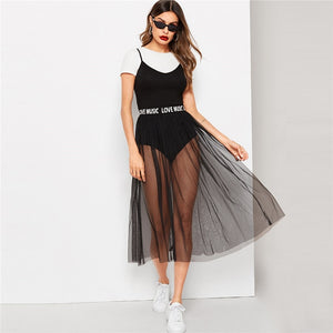 Sheer Bodysuit Set - Dash Couture