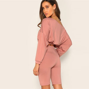 Drop Shoulder Bermuda Set - Dash Couture