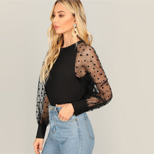 Polka Dot Mesh Blouse - Dash Couture