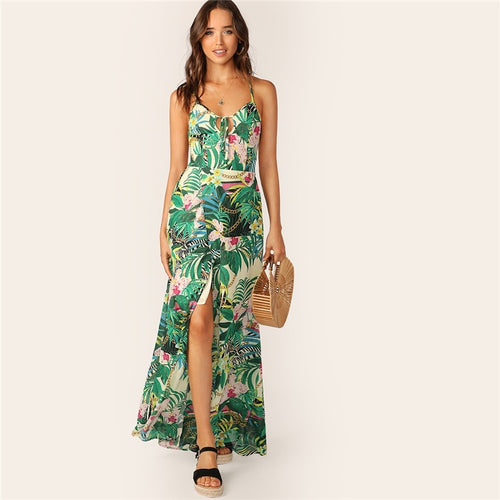 Floral Laced-Back Dress - Dash Couture