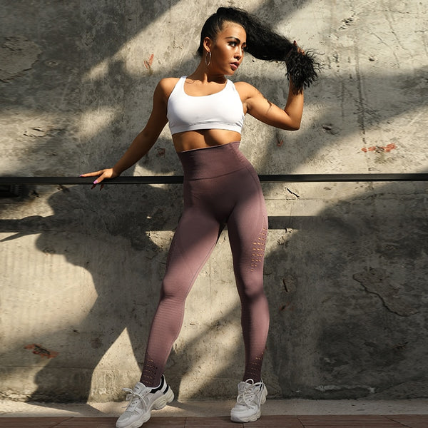 High Waist Push Up Leggings - myconnectionshop