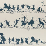 Catherine Martin Kids Wallpaper- Circus Parade in Marine Blue