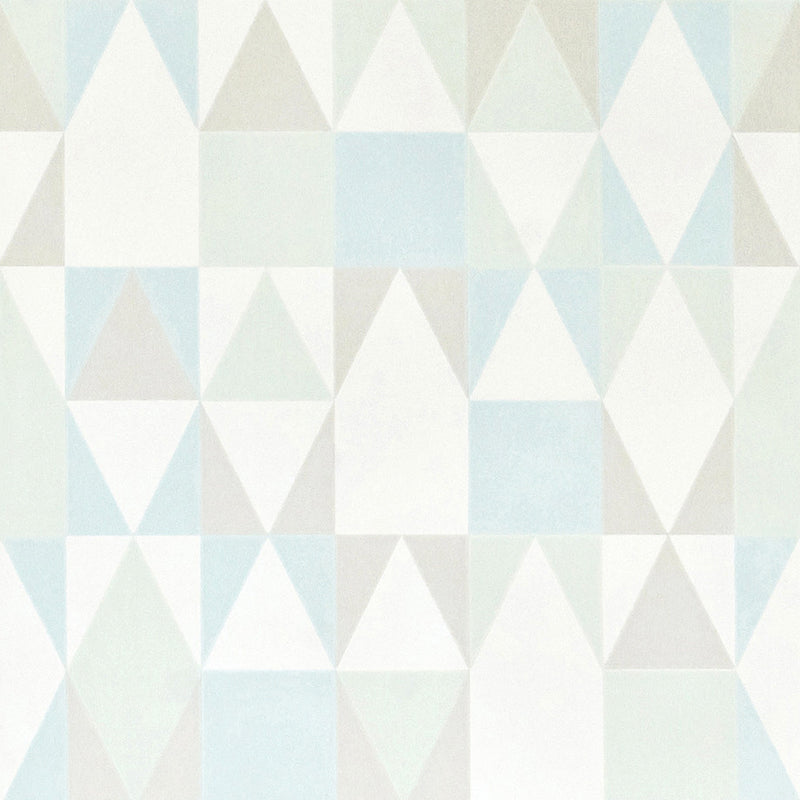 Majvillan Wallpaper Alice in soft green & blue 109-02