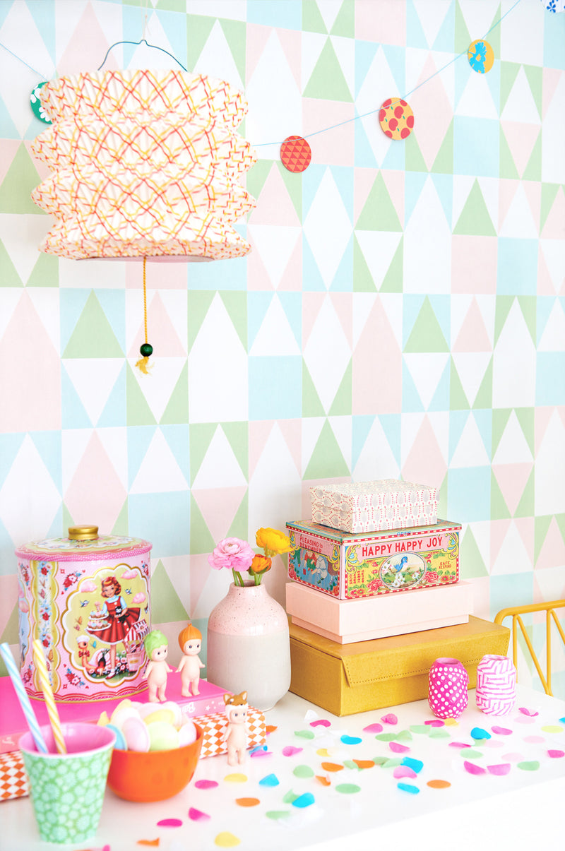 Alice in Candy Wallpaper by Majvillian. Non Woven Wallpaper for Kids Rooms