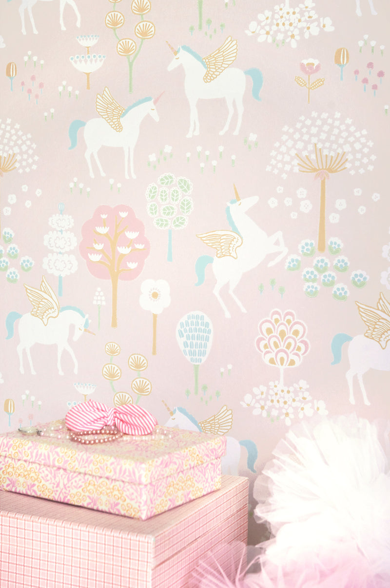 Pink True Unicorns Wallpaper | Just Kids Wallpaper