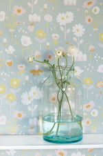 Floral Wallpaper | Bloom in Grey by Majvillan