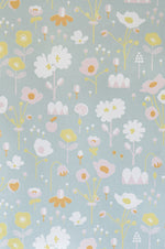 Floral Wallpaper | Bloom in Grey by Majvillan (close up)