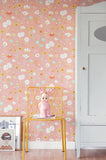Bloom in Pink Wallpaper | Majvillan Floral Wallpaper