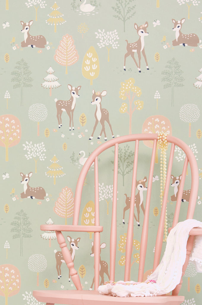 Woodlands Wallpaper by Majvillan for kids rooms