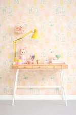 Pink Wallpaper for girls rooms | Golden Woods Sweet Pink